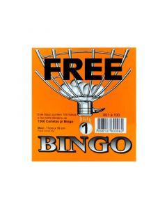 Talão de Bingo Simples 11cm x 10cm 100 fls