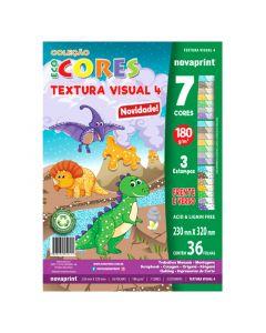 Bloco Textura Visual 4 Eco Cores 7 Cores 36 Folhas 180g Novaprint
