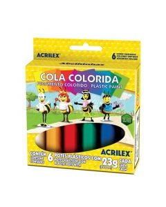 Cola Colorida 6 Cores 23g Acrilex