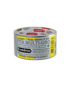Fita Adesiva Multi-Uso Silver Tape 48mm x 5m Prata Adelbras