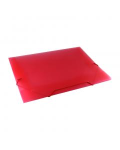 Pasta com Elástico Fina Plástica Ofício Vermelha Dac