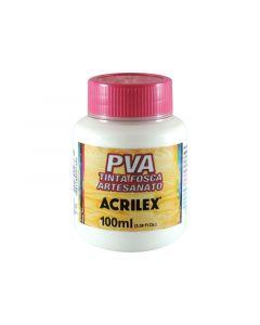 Tinta PVA Fosca Branco Acrilex - 100ml